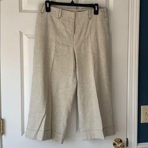 Linen wide leg dress pant